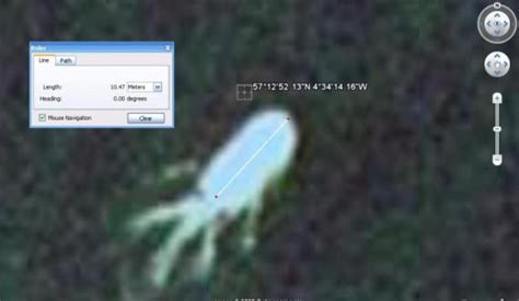 strange anomalies on earth loch ness monster spotted on google earth enlarged