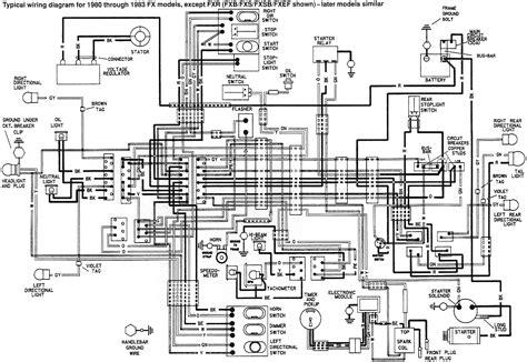 hd wiring diagrams harley davidson wiring diagram manual fxr 1988 get free