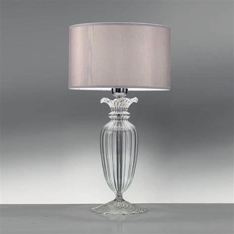 lada con paralume lumi da tavolo in cristallo 21451 lada in cristallo