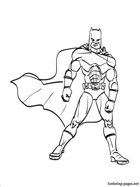 batman in all its glory coloring page for boys coloring