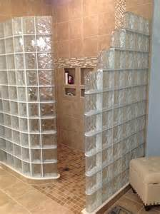 glasbaustein dusche glass block shower wall walk in designs nationwide