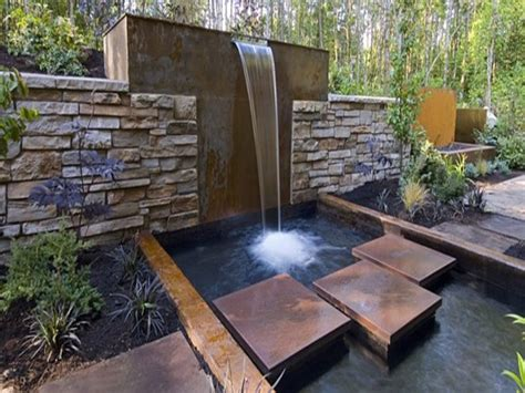 Modern Wall Water Features by Outside Water Fountains Garden Contemporary Water