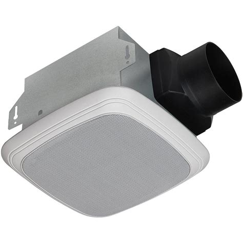 exhaust fan with bluetooth speaker upc 820633953678 decorative white 70 cfm bluetooth