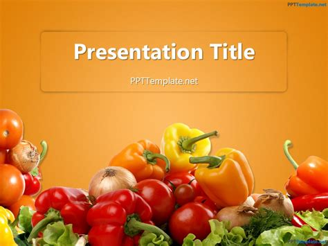 free food powerpoint template free various vegetables ppt template