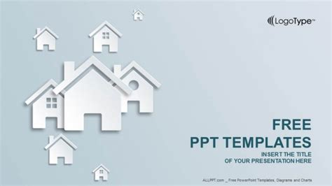 house powerpoint template real estate icon powerpoint templates