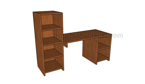 diy desk with storage desk with storage plans howtospecialist how to build