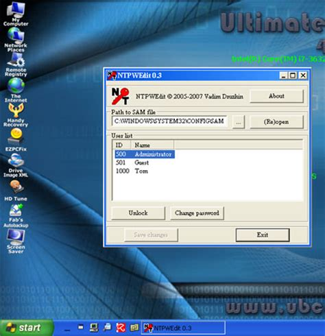 reset windows password with ubcd how to use ubcd4win password recovery