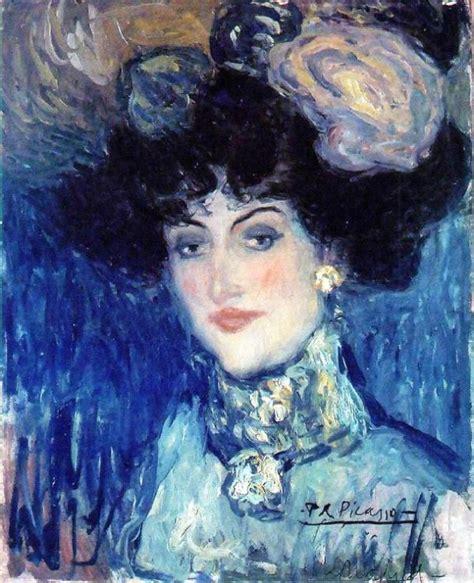 la chambre bleue picasso coup de coeur femme au chapeau 224 plumes 1901