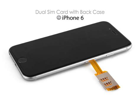 iphone dual sim dual sim card for iphone 6 with back