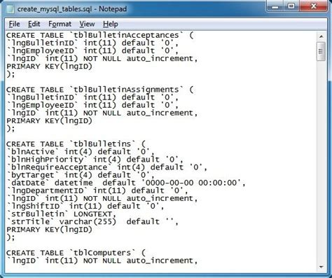 mysql date format version setting up the network plus edition with mysql