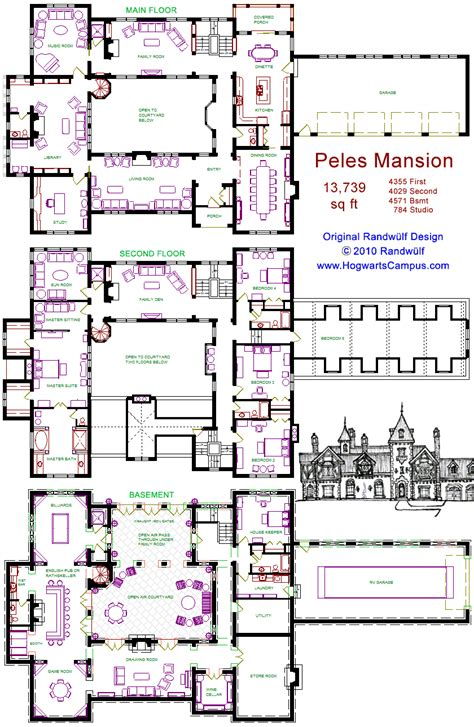 minecraft castle floor plan peles mansion floor plan
