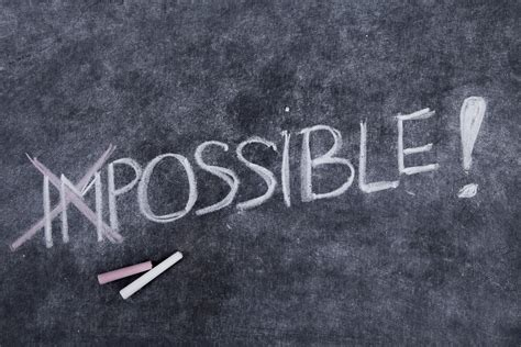 lettere impossibile can knock the wind out of your potential but you