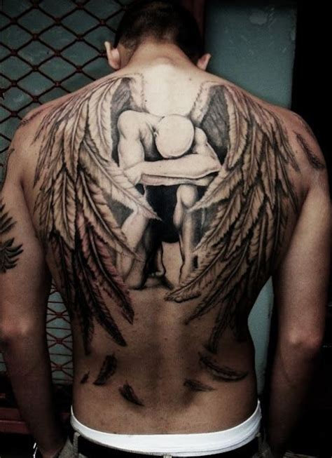 3d angel tattoo 3d fallen angel tattoo on back