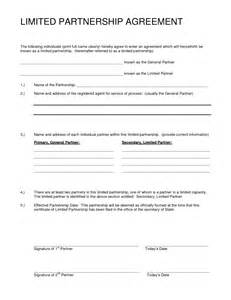 real estate partnership agreement template partnership agreement sle free printable documents
