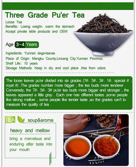 White Label Detox Tea by Classical 3 Puer Tea Reduce Detox Tea