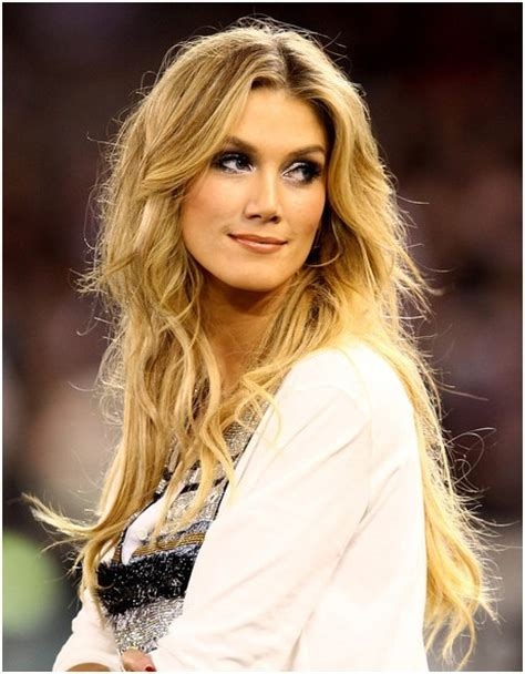 hairstyles with center part and layers blonde tousled center part hairstyles delta goodrem long