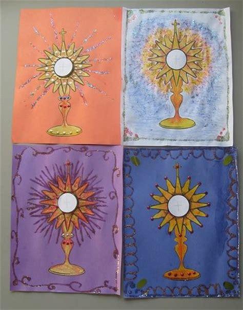 catholic craft projects jesus in the eucharist monstrance project catholic