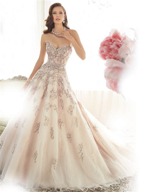 pink designer wedding dresses gown wedding dress with sweetheart neckline