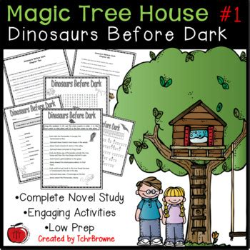 magic tree house printable quizzes 1 magic tree house dinosaurs before dark novel study by