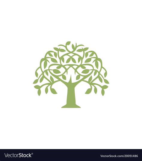 Green Tree Abstract Plant Logo Royalty Free Vector Image Abstract Green Tree Logo Vector Free