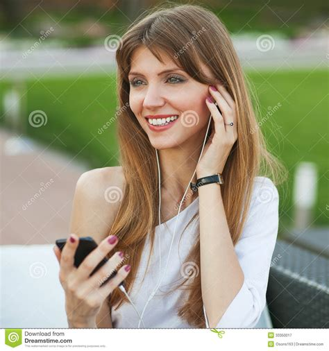 that girl mp girl listening to mp3 player royalty free stock