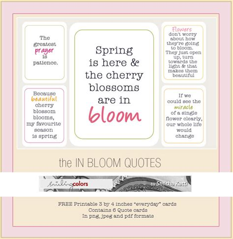 printable quotes for project life freebie printable in bloom quote cards smitha katti
