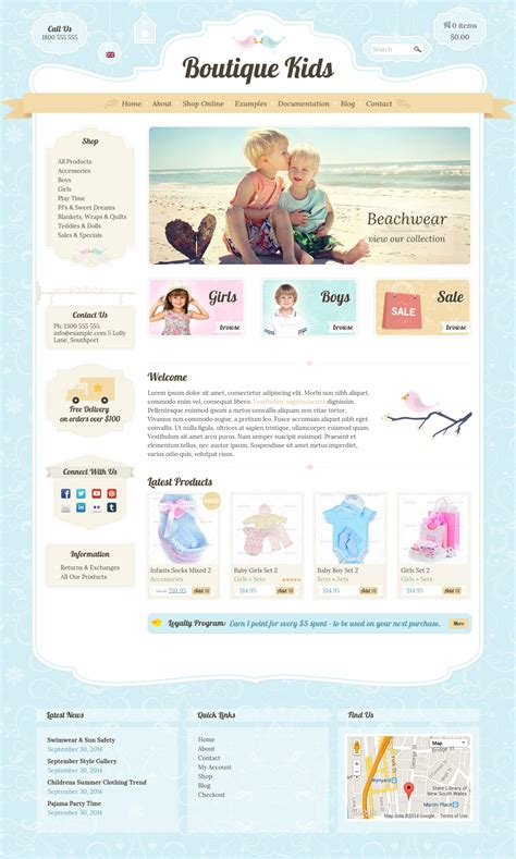 wordpress shop layout boutique kids creative by dtbaker themeforest