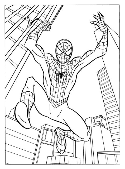 coloring page spiderman 3 coloring pages 4