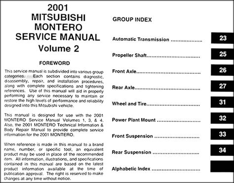 repair manuals mitsubishi montero 2003 repair manual service manual free auto repair manuals 2002 mitsubishi montero sport free book repair manuals