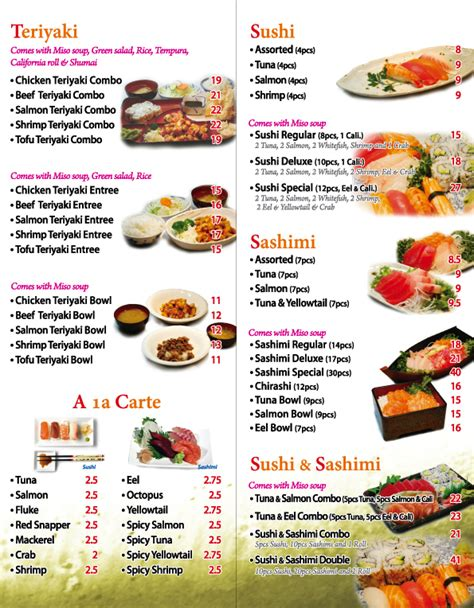 Origami Sushi Menu - origami sushi ta menu 28 images sushi kuni sushi ya