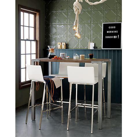 stilt 42 quot high dining table cb2