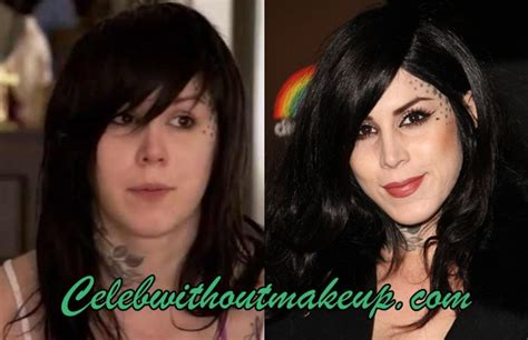 kat von d no makeup on celeb without makeup