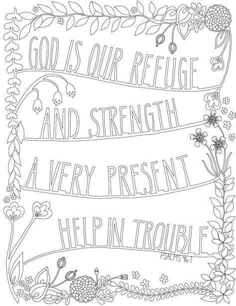 Just What I Squeeze In God Is Our Refuge Coloring God Is Coloring Page