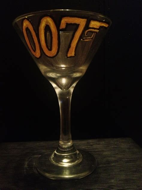 james bond martini glass 74 best painted glasses that i ve made images on pinterest