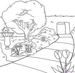 drawing pictures of garden drawing pictures