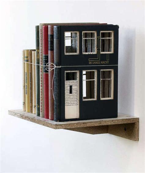 house books book built house decor book