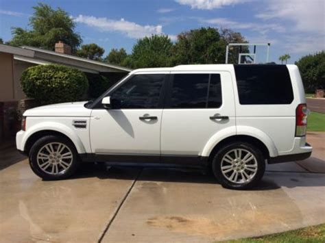 white land rover lr4 purchase used 2012 white land rover lr4 hse in scottsdale