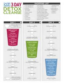 Dr oz s 3 day detox cleanse one sheet the dr oz show
