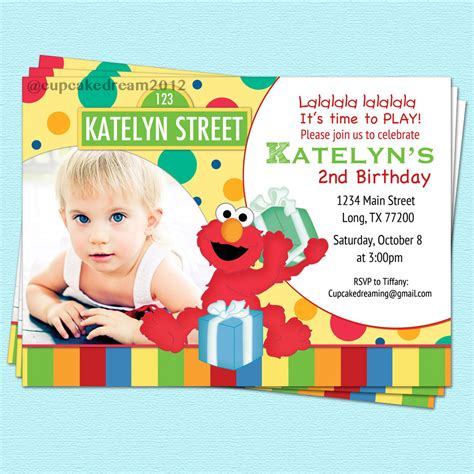 sesame invitation template sesame invitation elmo birthday printable by