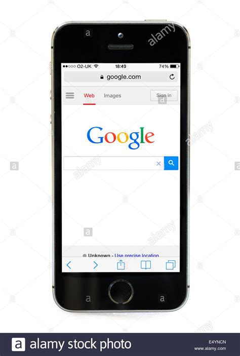 google images on iphone google home page on an apple iphone 5s uk stock photo