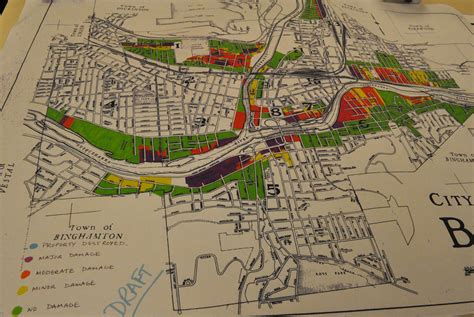 binghamton map binghamton begins to tally flood s cost innovation trail