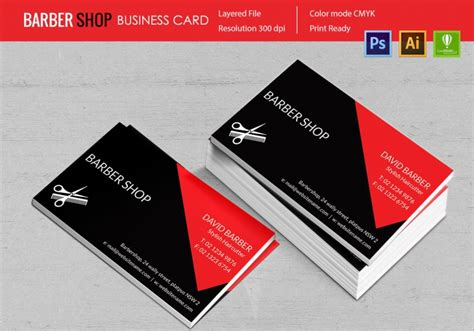 barber business card template psd 15 barber shop templates psd eps cdr vector format