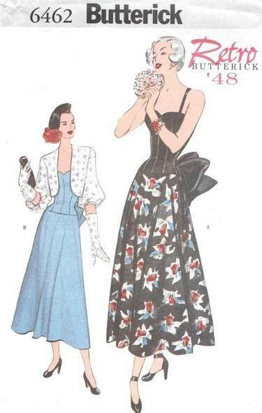 pattern rule for 3 6 12 21 b6462 sizes 6 10 12 16 18 22 butterick retro patterns