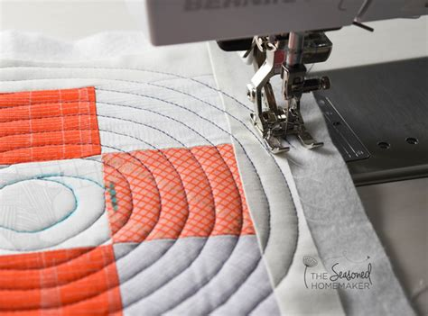 Using A Quilting Foot by Spiral Quilting With A Walking Foot The Seasoned Homemaker