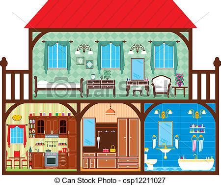 Lighthouse House Plans Vector Illustration Of House In A Cut Which Depicts The