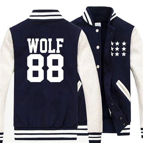 Varsity Exo Jaket Exo exo wolf 88 varsity jacket on storenvy