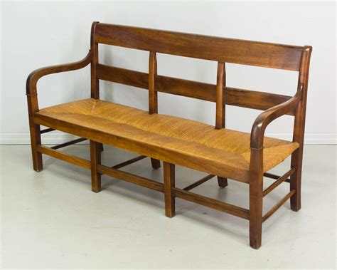 banquette settee 19th century country french banquette or settee at 1stdibs