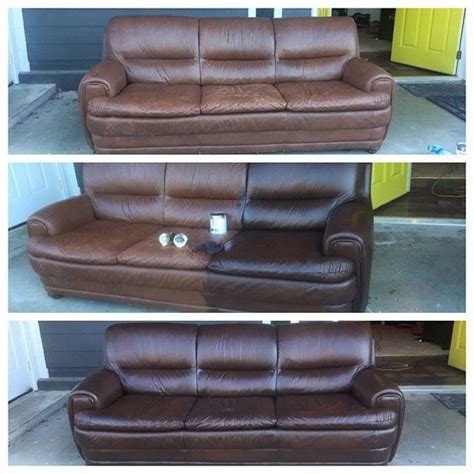 diy sofa repair staining a leather couch diy furniture pinterest
