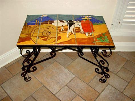 Table San Jose by San Jose Pottery Scenic Tile Table 107 Vintage