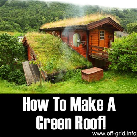 how to make your house green how to make a green roof off grid